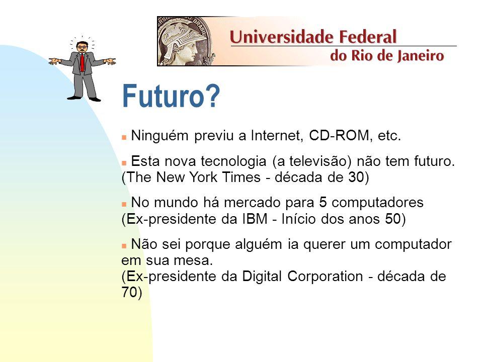 Futuro Ninguém previu a Internet, CD-ROM, etc.