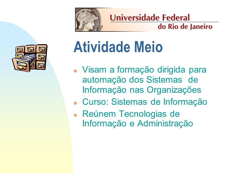 Atividade Meio Visam a formação dirigida para automação dos Sistemas de Informação nas Organizações.