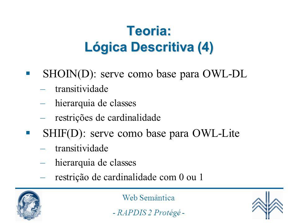 Teoria: Lógica Descritiva (4)