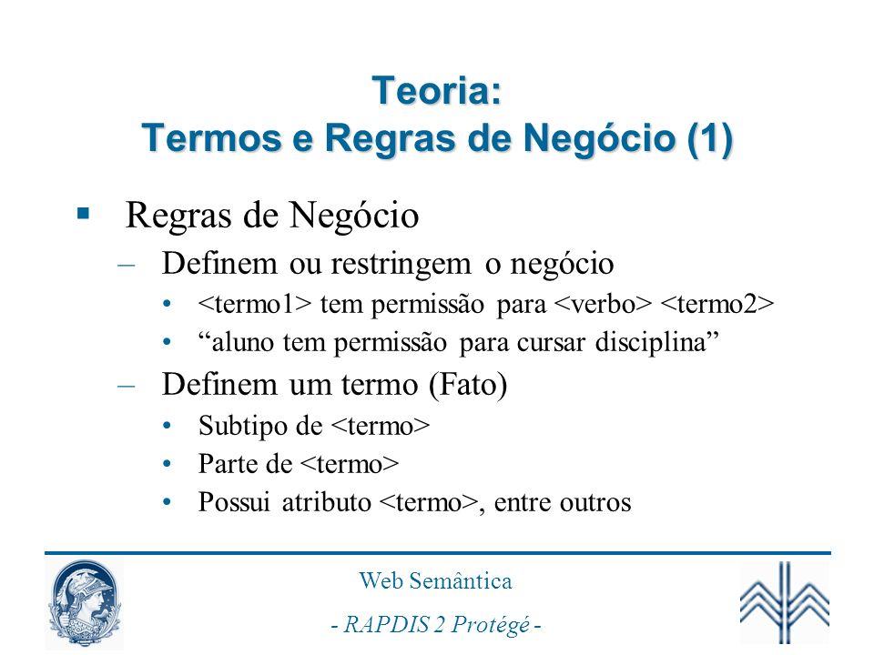 Teoria: Termos e Regras de Negócio (1)