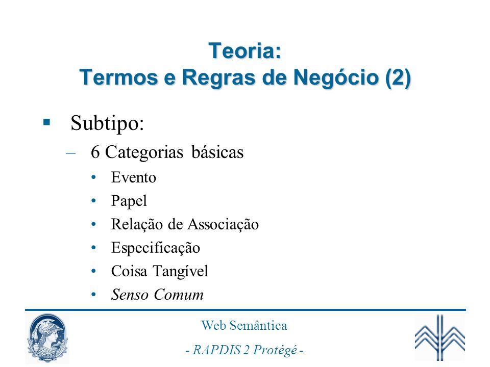 Teoria: Termos e Regras de Negócio (2)