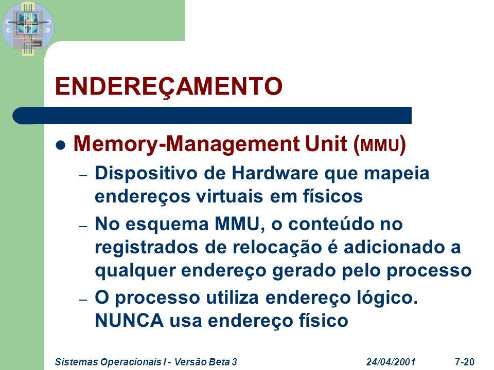 ENDEREÇAMENTO Memory-Management Unit (MMU)
