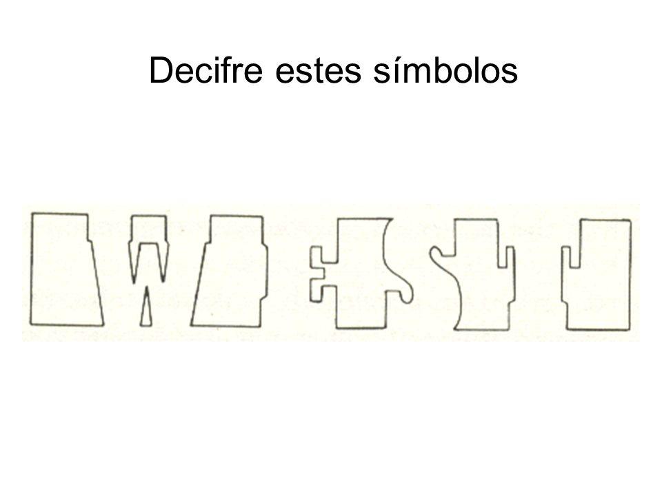 Decifre estes símbolos