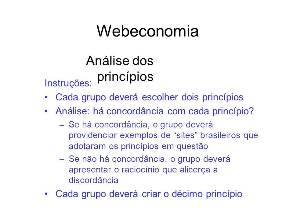 Webeconomia Análise dos princípios Instruções: