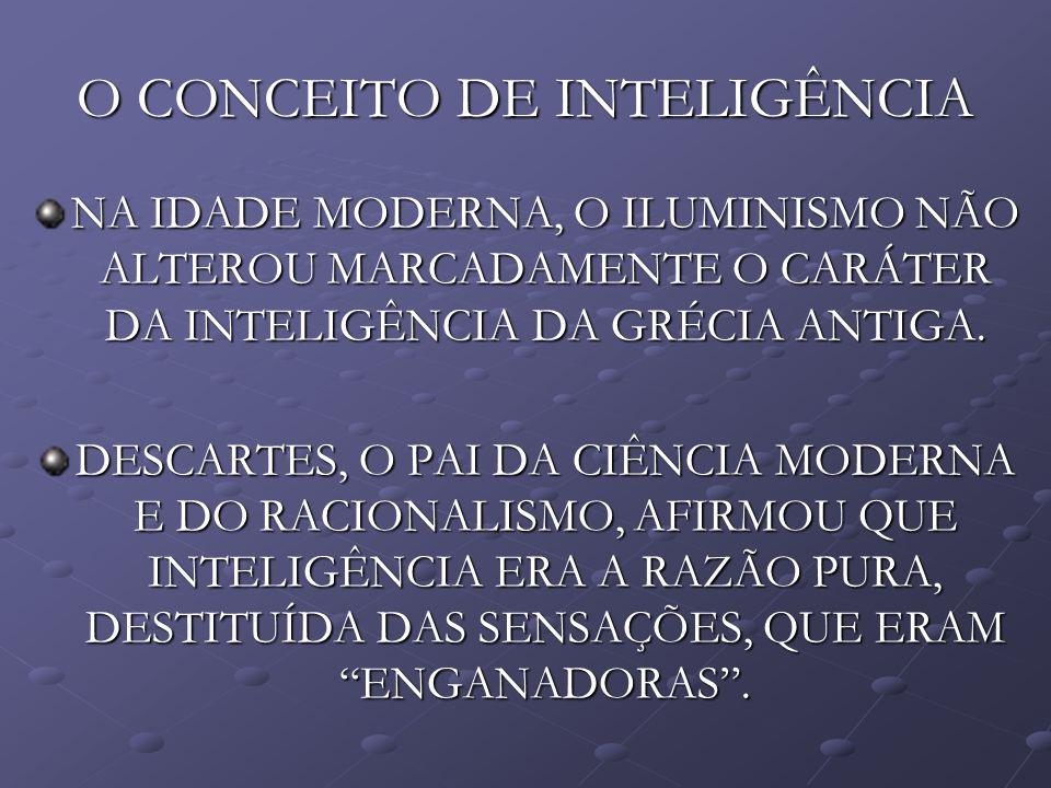 O CONCEITO DE INTELIGÊNCIA