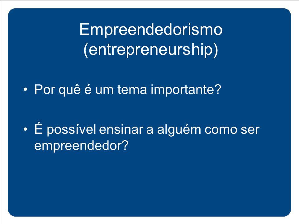 Empreendedorismo (entrepreneurship)