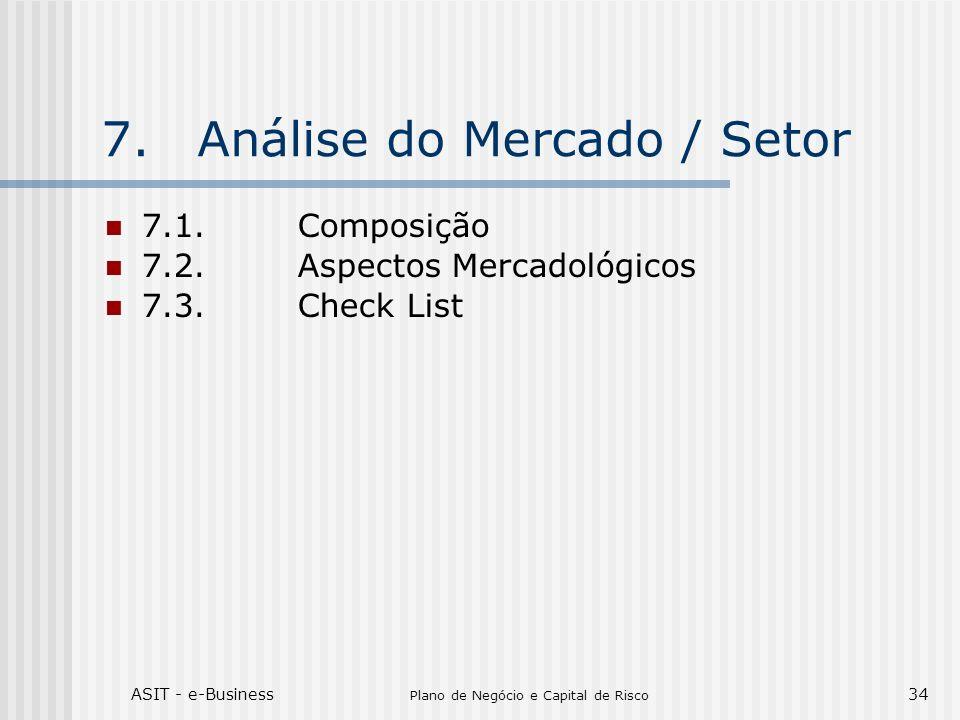 7. Análise do Mercado / Setor