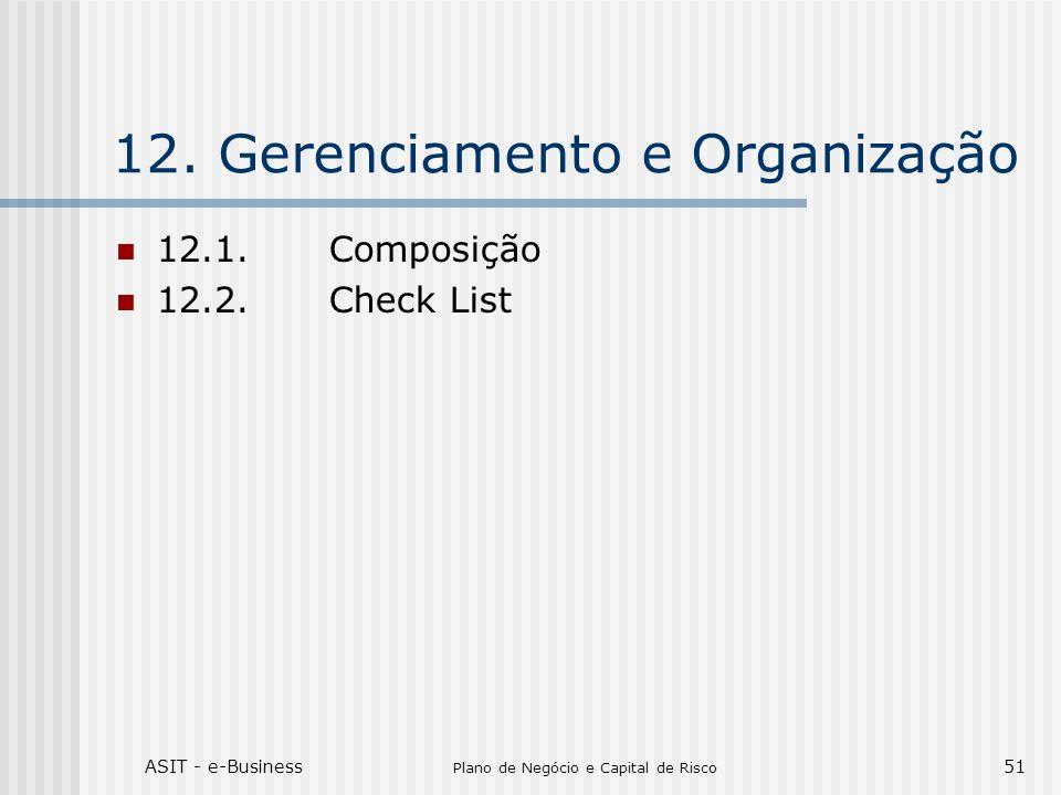 12. Gerenciamento e Organização