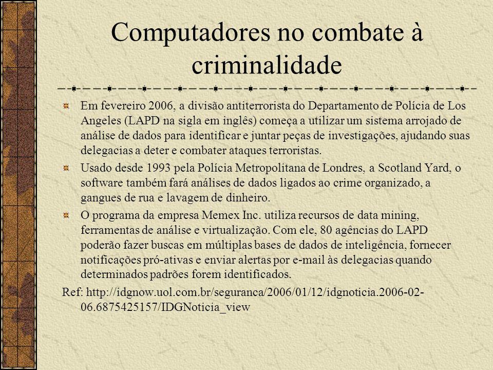 Computadores no combate à criminalidade