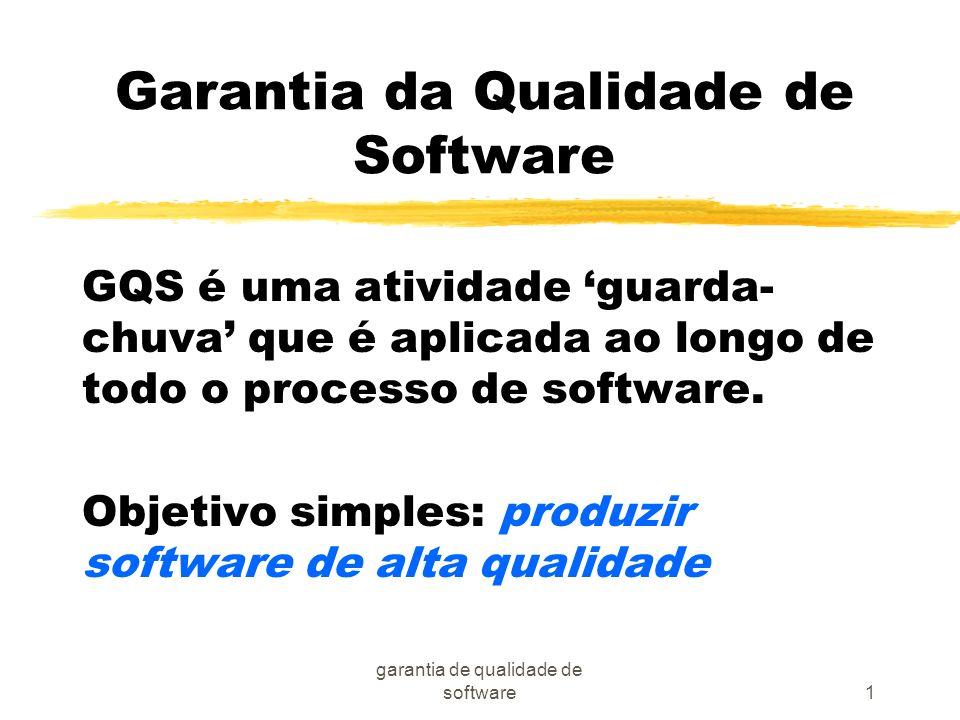 Garantia da Qualidade de Software