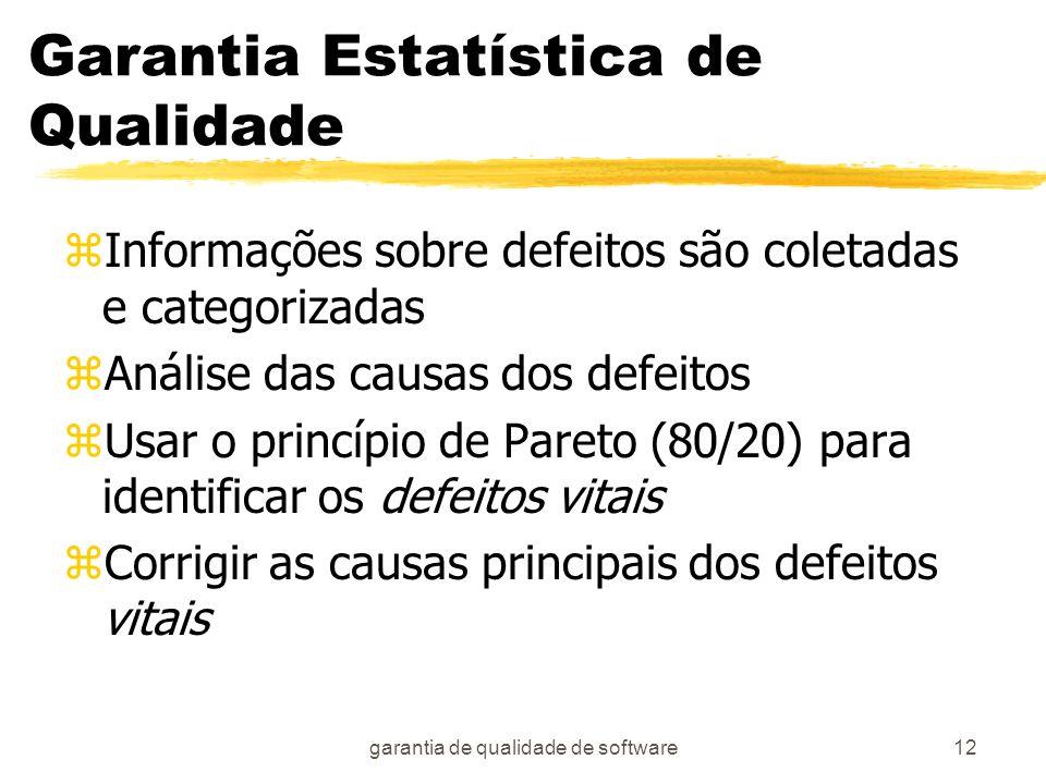 Garantia Estatística de Qualidade