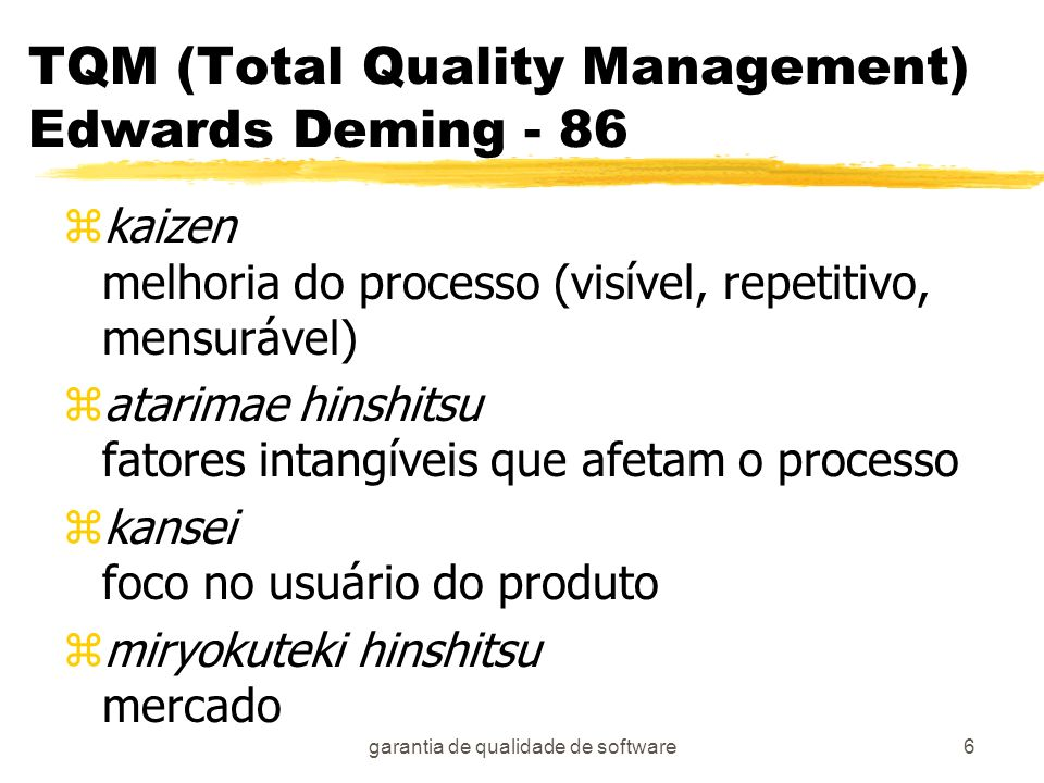 TQM (Total Quality Management) Edwards Deming - 86