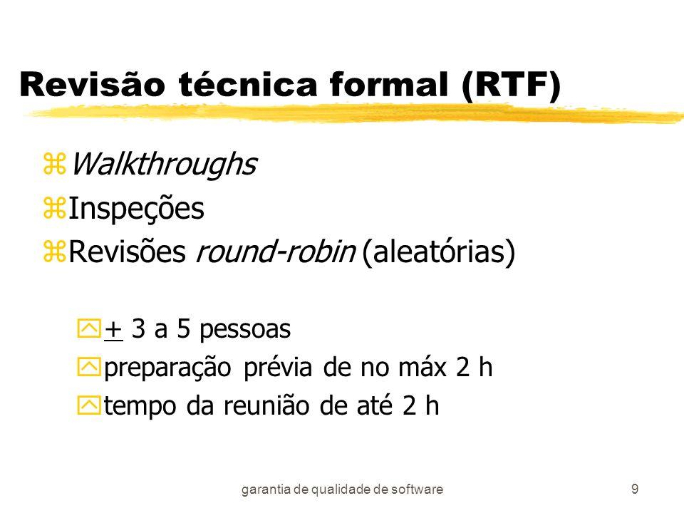Revisão técnica formal (RTF)