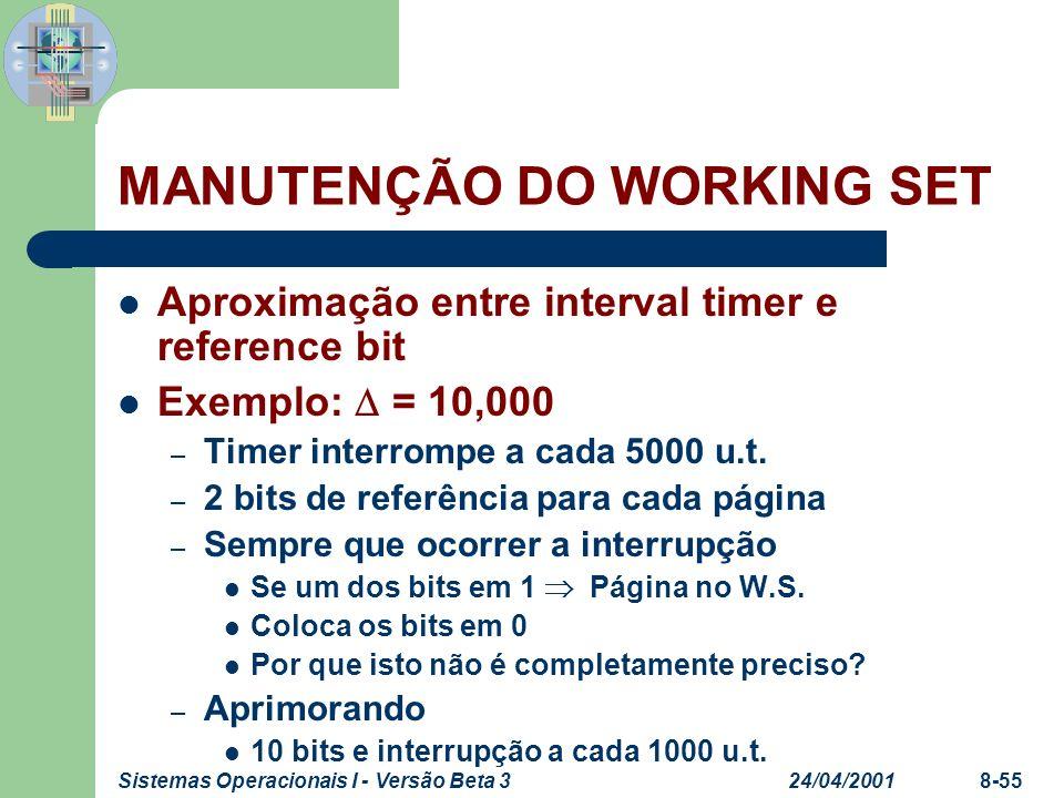 MANUTENÇÃO DO WORKING SET