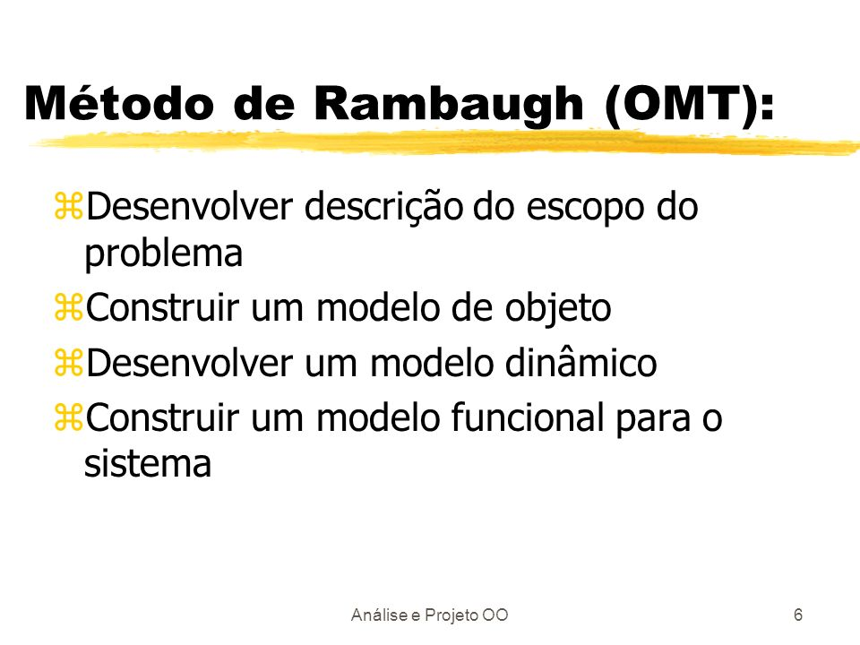 Método de Rambaugh (OMT):