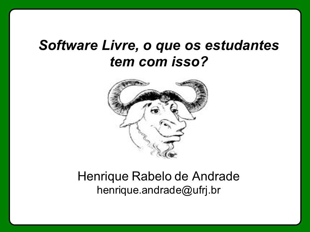 Software Livre, o que os estudantes tem com isso