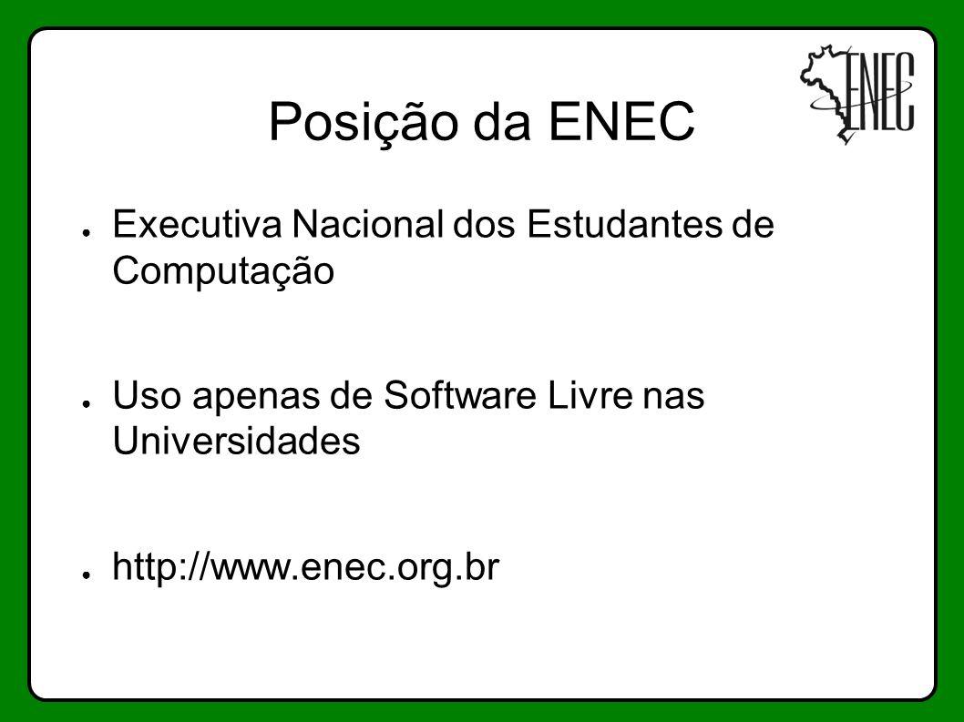 Posição da ENEC Executiva Nacional dos Estudantes de Computação