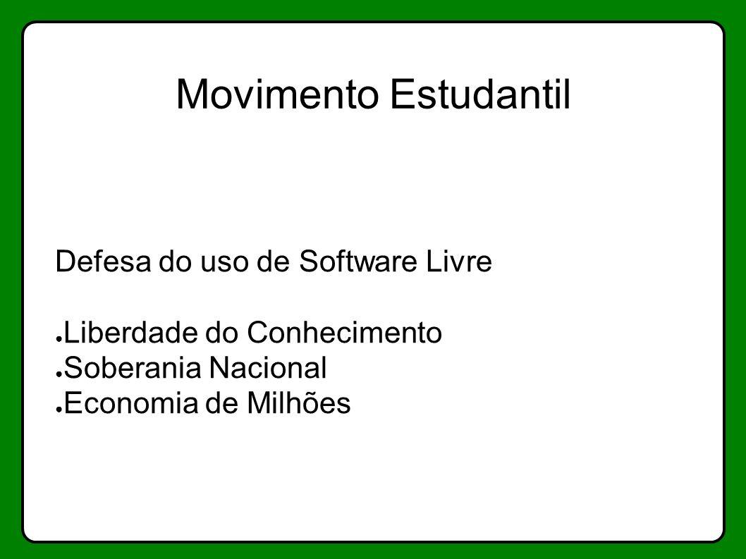 Movimento Estudantil Defesa do uso de Software Livre