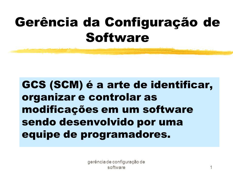 Gerência da Configuração de Software