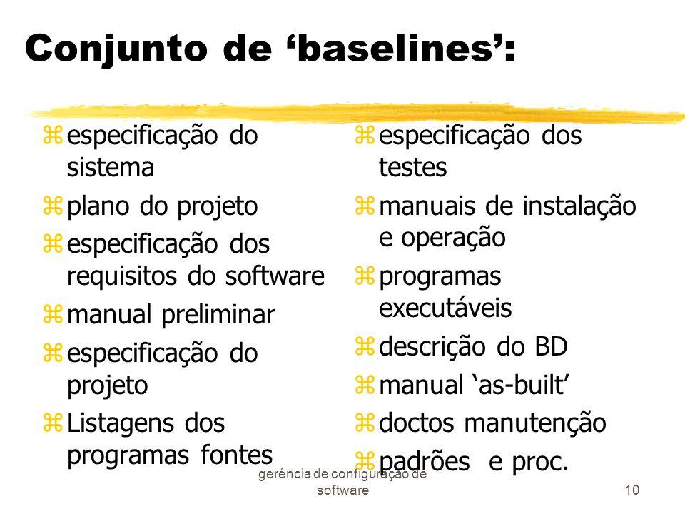 Conjunto de 'baselines':