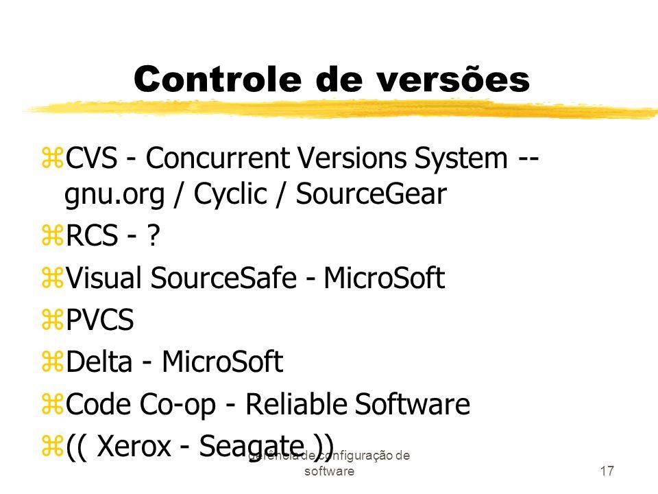 gerência de configuração de software