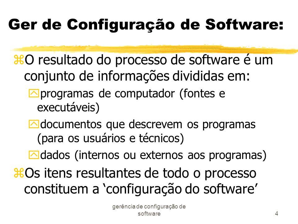 Ger de Configuração de Software: