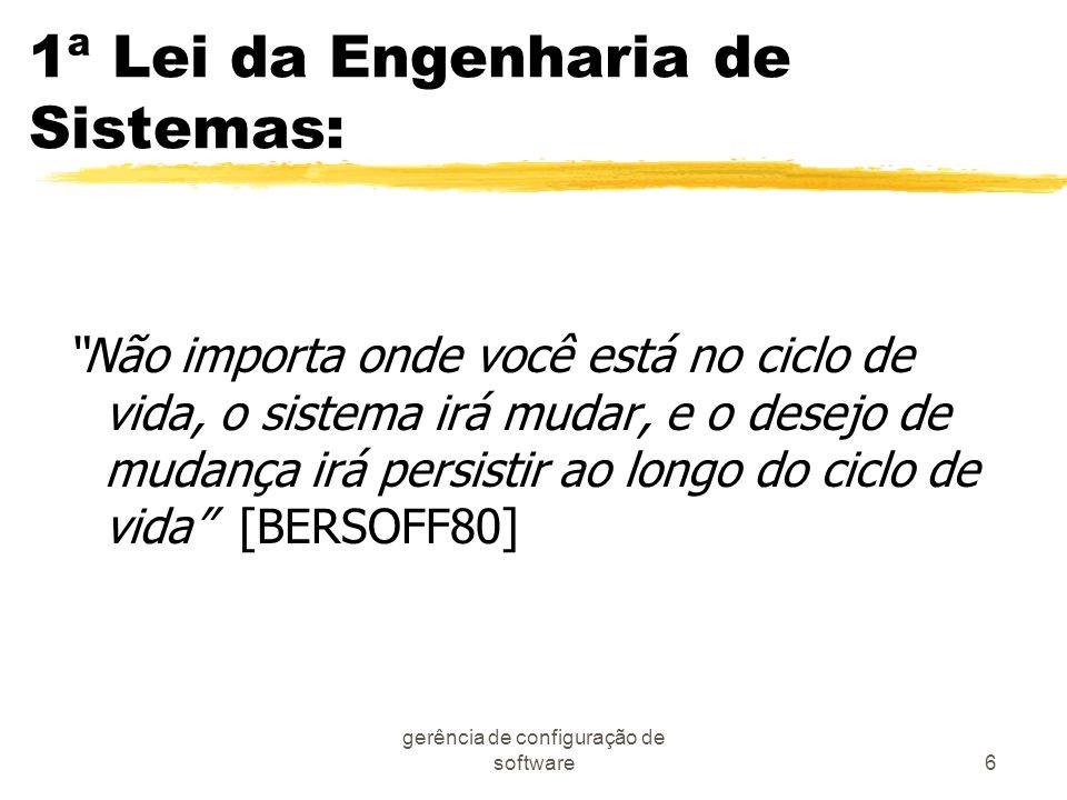 1ª Lei da Engenharia de Sistemas: