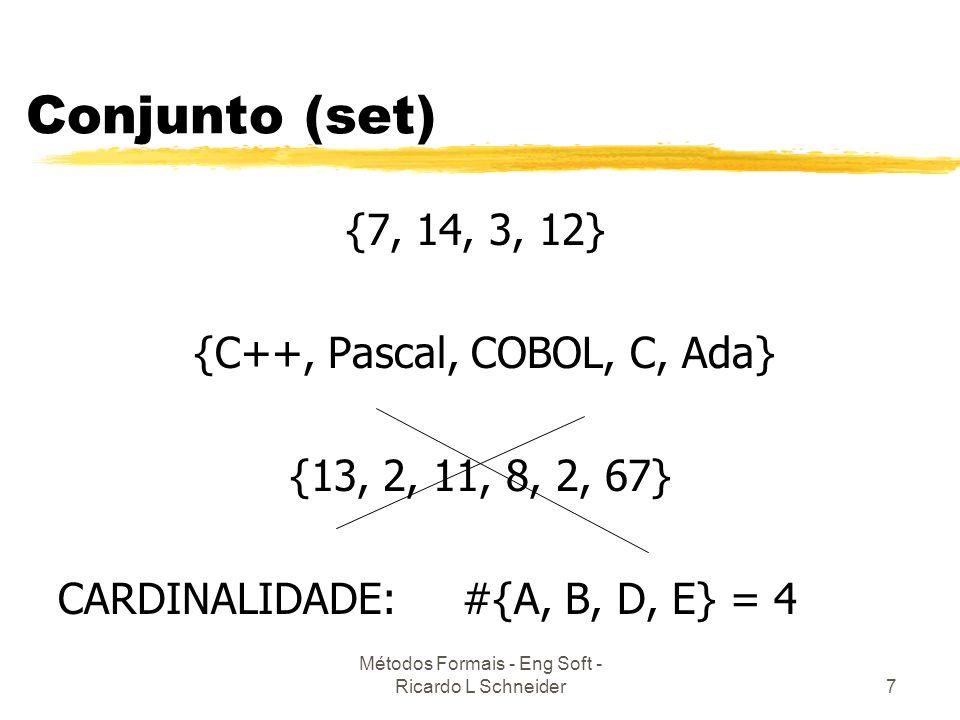 Métodos Formais - Eng Soft - Ricardo L Schneider