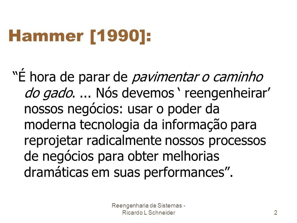 Reengenharia de Sistemas - Ricardo L Schneider