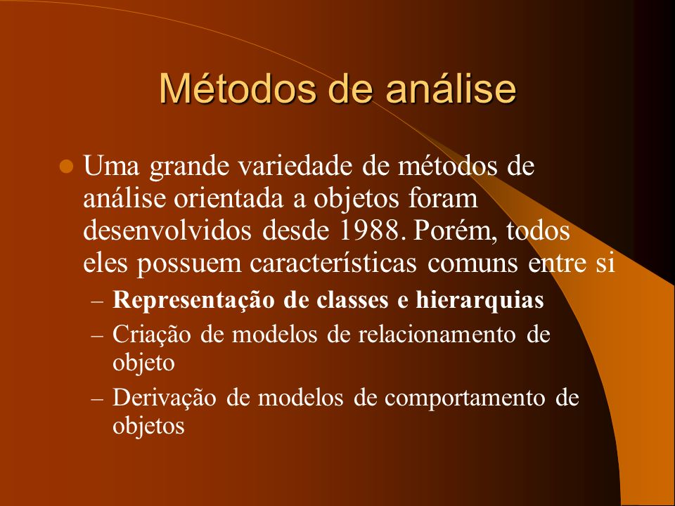 Métodos de análise