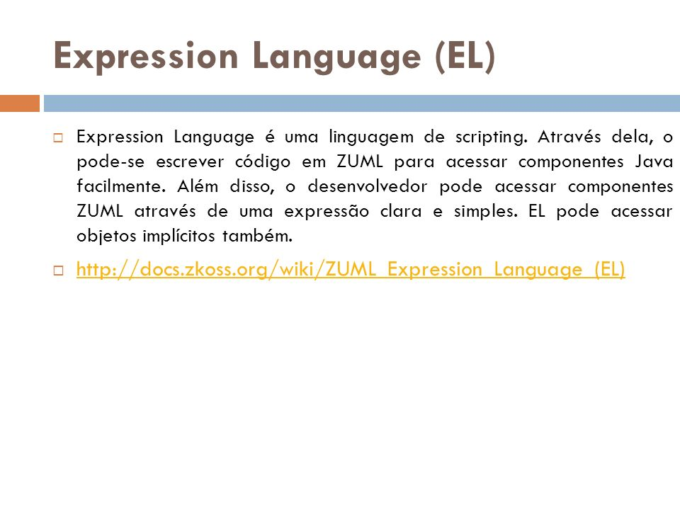 Expression Language (EL)