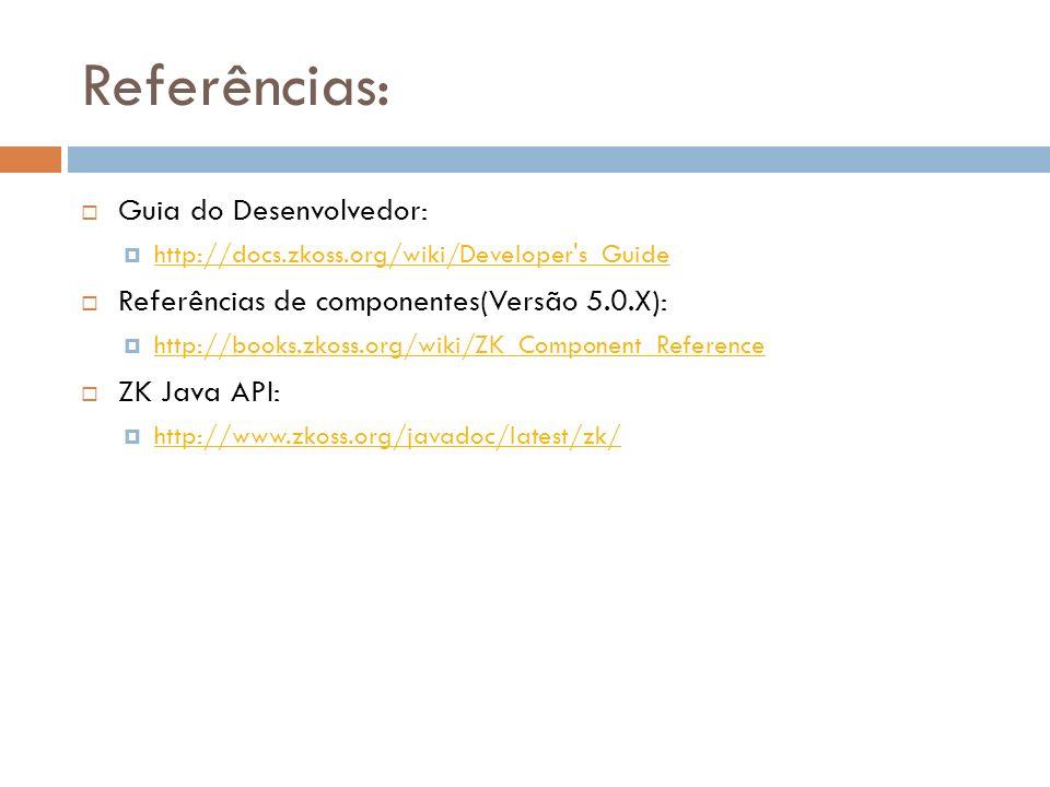Referências: Guia do Desenvolvedor: