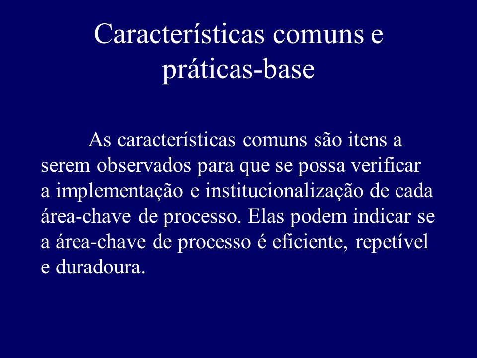 Características comuns e práticas-base