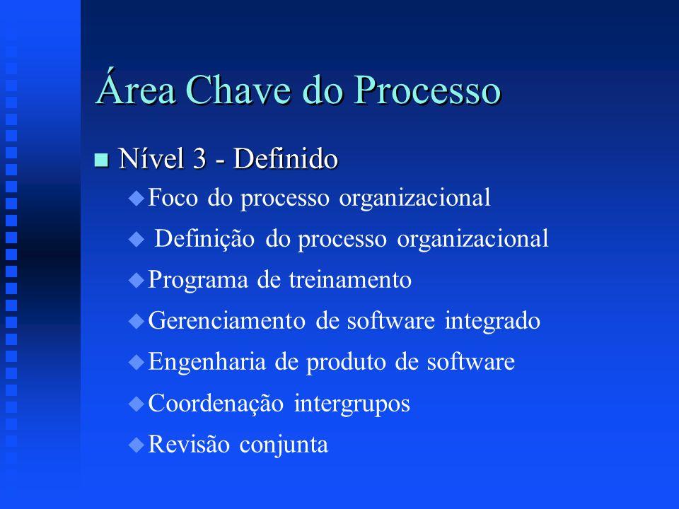 Área Chave do Processo Nível 3 - Definido