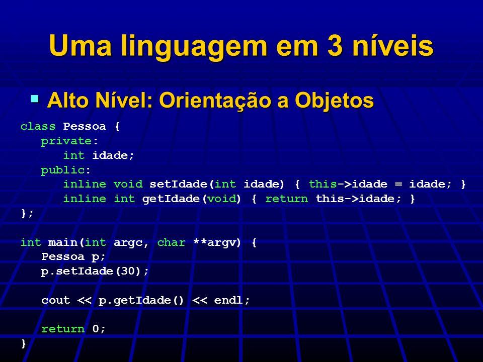 Uma linguagem em 3 níveis