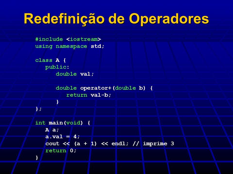 Redefinição de Operadores