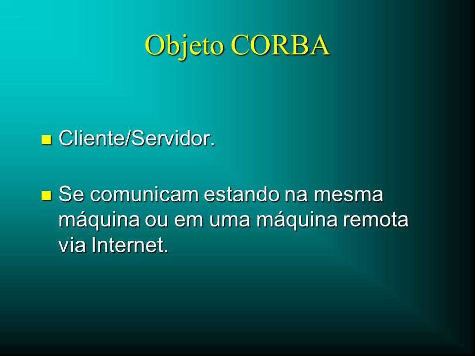 Objeto CORBA Cliente/Servidor.