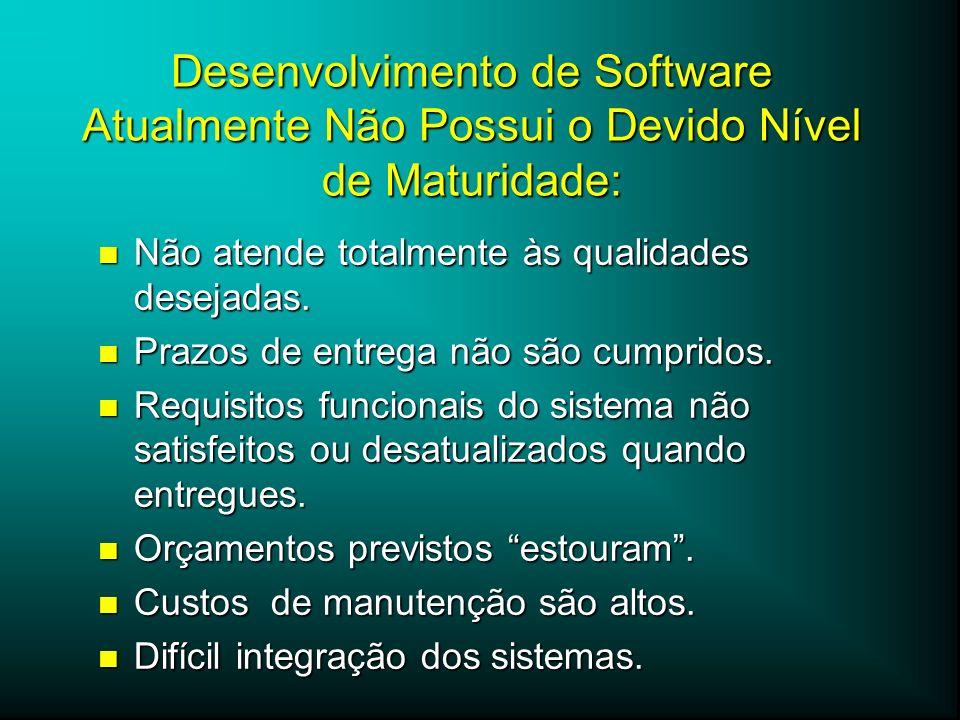 Desenvolvimento de Software Atualmente Não Possui o Devido Nível de Maturidade: