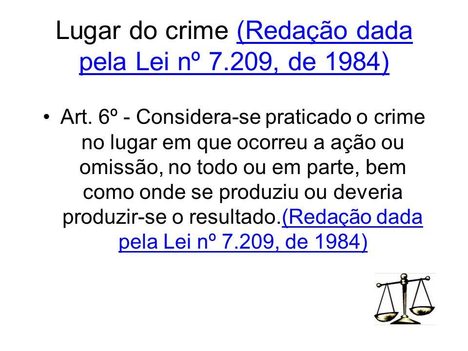 Lugar do crime (Redação dada pela Lei nº 7.209, de 1984)
