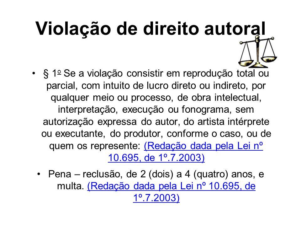 Violação de direito autoral