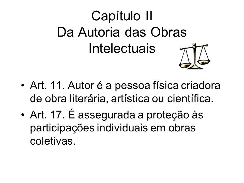 Capítulo II Da Autoria das Obras Intelectuais