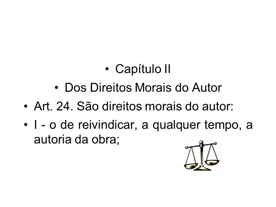 Dos Direitos Morais do Autor