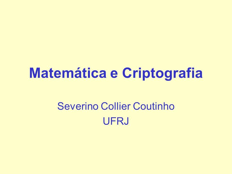 Matemática e Criptografia