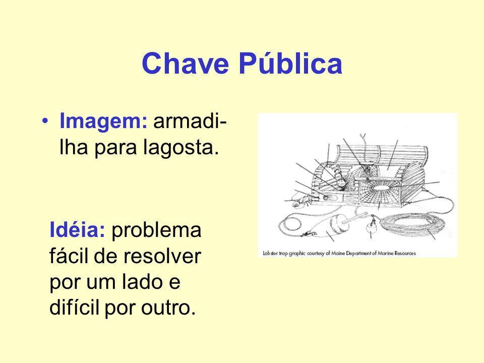 Chave Pública Imagem: armadi-lha para lagosta.