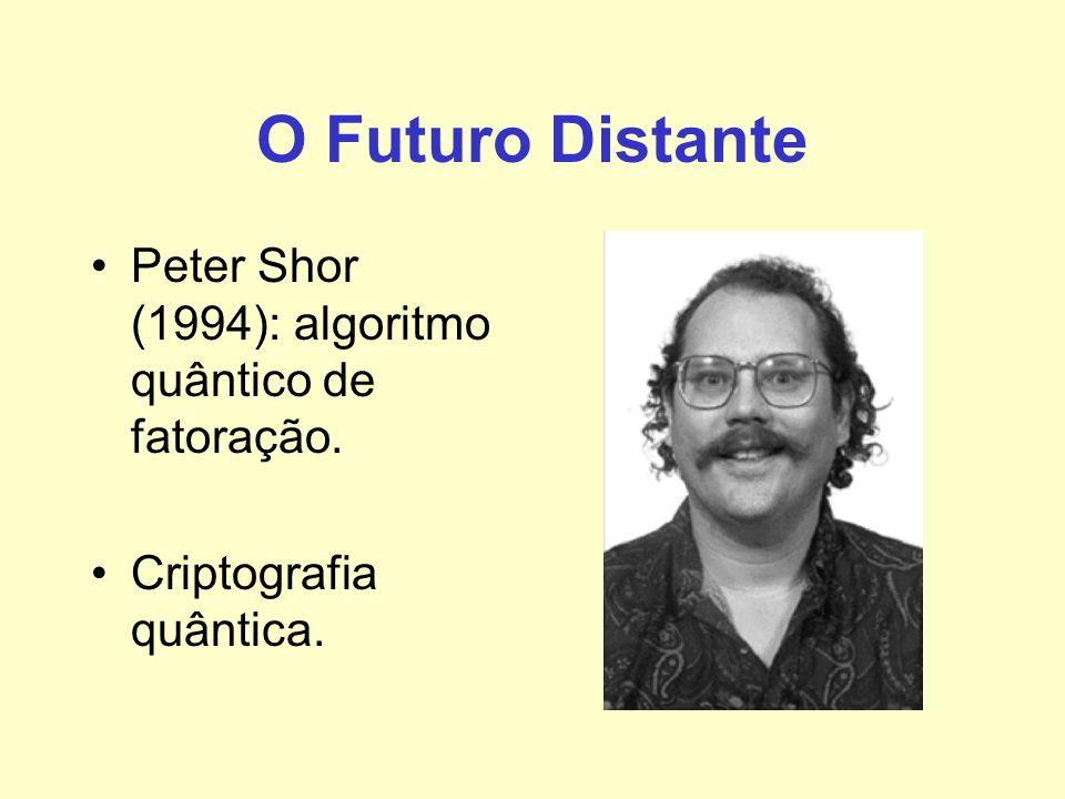 O Futuro Distante Peter Shor (1994): algoritmo quântico de fatoração.