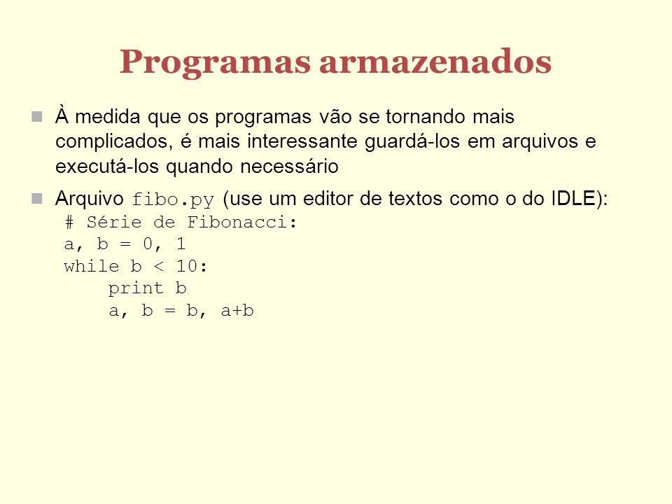 Programas armazenados