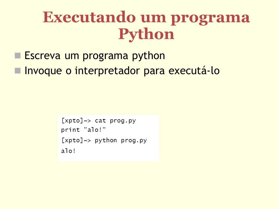 Executando um programa Python