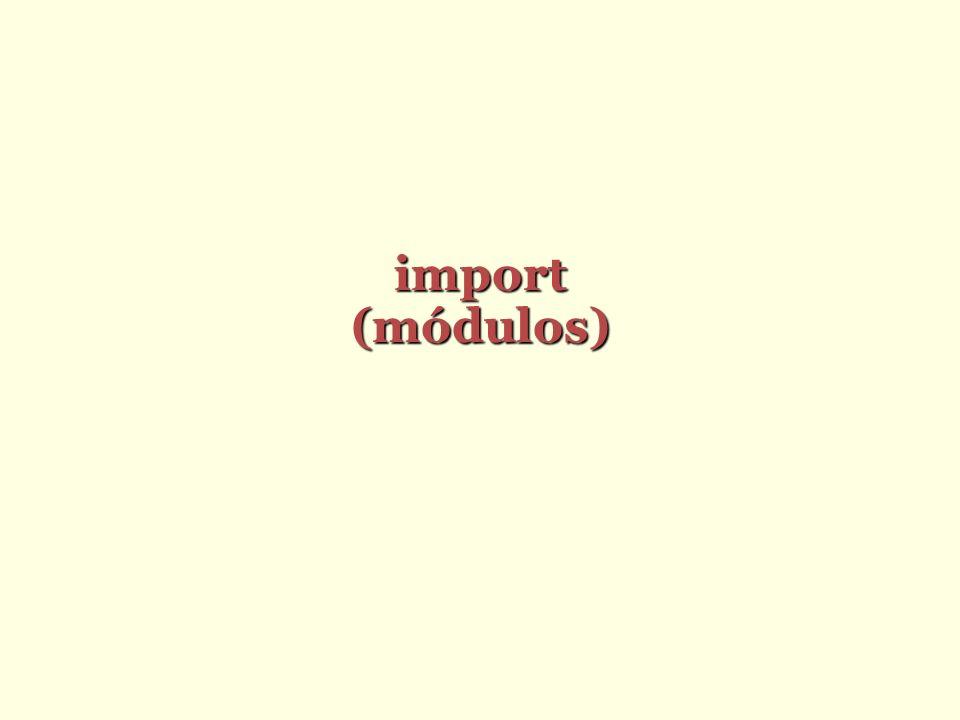 import (módulos)