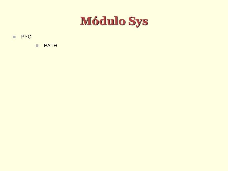 Módulo Sys PYC PATH