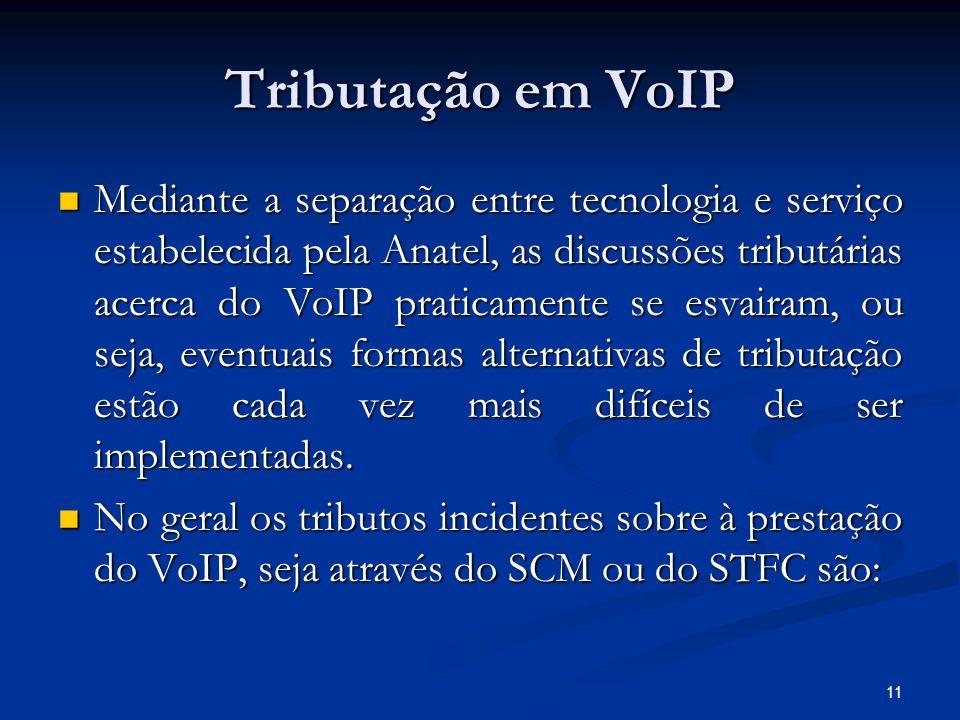 Tributação em VoIP